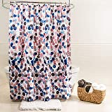 Pink and Blue Shower Curtain Splash Home 71SPLIS/FPBLUSPL Splish Polyester Fabric Shower Curtain, 70
