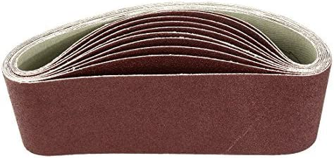 - Aluminum oxide sanding belt, polishing joint, 100 mm, 3 inches x 21 inches, 10 pieces