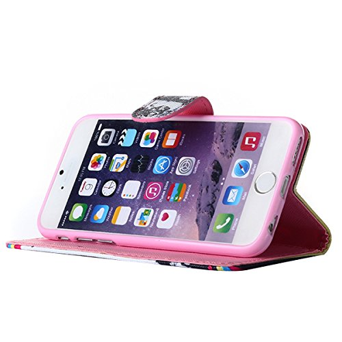 Ekakashop Coque de Apple iphone 5c Populaire Belle Dessin de Pissenlit Flip Cover Case Cas Etui avec Support pour iphone 5c, Fermeture Magnetique Portefeuille Wallet Shell de Protection étui Couvertur