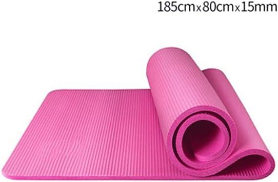 Amazon.com: YOBOOW Thickened NBR Yoga Mats Workout Mat ...