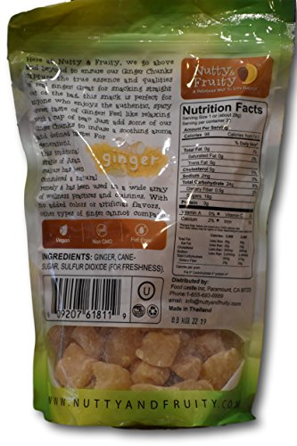 Ginger Chunks- Non crystallized Real Fruit- Soft and Juicy by Nutty and Fruity (Image #1)