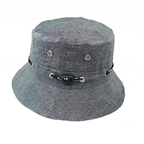 Unisex Women Folding Cotton Outdoor Travel Fishing Flat Sun Visor Bucket Hat Cap