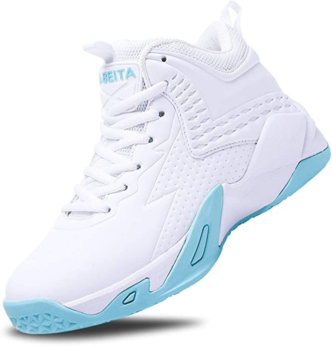 BEITA Girls Basketball Shoes Boys High Tops Sneakers Athletic Trainers Shoes for Big Kids, Children, Teens, Boys, Professional Anti-Skid & Durable for Indoors & Outdoors