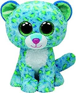 Amazon Com Ty Beanie Boos Leona Blue Leopard Regular