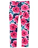 Gymboree Little Girls' Basic Print Legging, Large Floral Print, M