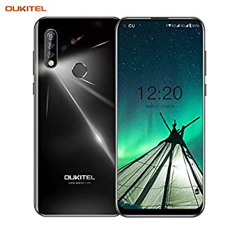 OUKITEL C17pro,Android Unlocked Phone Triple Camera Octa-Core 64GB ROM+4GB RAM 3900 mAh Unlocked Cell Phone 6.35 inch HD+ Display Android 9.0 Pie 4G Smartphone(Ice Blue)