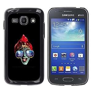 YiPhone /// Prima de resorte delgada de la cubierta del caso de Shell Armor - Azul Gafas Hindú - Samsung Galaxy Ace 3