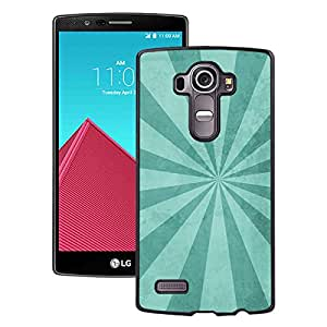 Beautiful LG G4 Cover Case ,Blue Rays Burst Illustration Black LG G4 Phone Case Unique And Durable Designed Screen Case