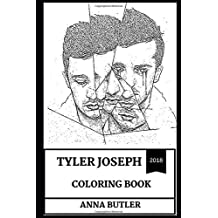 Tyler Joseph Coloring Book: Great Musical Prodigy and Talented Artist, Twenty One Pilots Rapper and Founder Inspired Adult Coloring Book