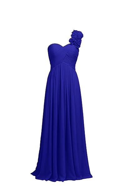 3e4a3093cd7d YiYaDawn donna abito lungo monospalla damigella d  onore formale abito da  sera Royal Blue 44