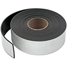 "Master Magnetics ZG60A-A10BX Flexible Magnet Strip with Adhesive Back, 1/16"" Thick, 1-1/2"" Wide, 10' (1 Roll)"