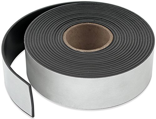 Master Magnetics ZG95A-A10BX Flexible Magnet Strip with Adhesive Back, 1/16' Thick, 4' Wide, 10' (1 Roll)