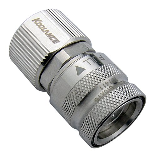 Koolance QD3-FS10X16 QD3 Female Quick Disconnect No-Spill Coupling, Compression for 10mm x 16mm (3/8in x 5/8in)