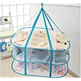 """Adwaita Large Size 3-Tier Folded Mesh Clothes Hanging Dryer T-shirt/Sweater Drying Rack 30.3"""" L x 24.5"""" W x 30.7"""" H"""