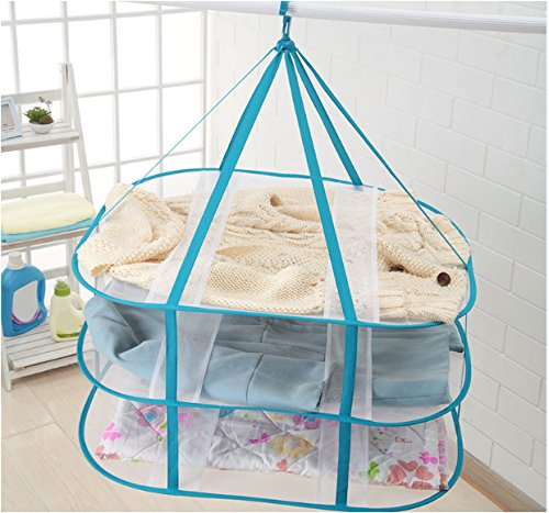 Adwaita 3-Tier Folded Mesh Clothes Hanging