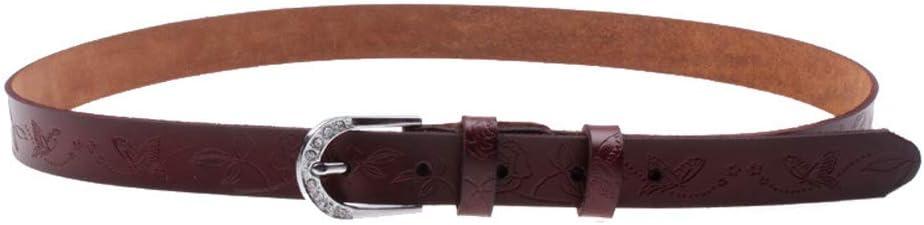 XY-man's belt Confortable Ceinture pour Femmes Ceinture Fine en Cuir Couleur Pure Pin Buckle Ceintures Simples pour Pantalons de Costume Ajustable (Couleur : Café) Café