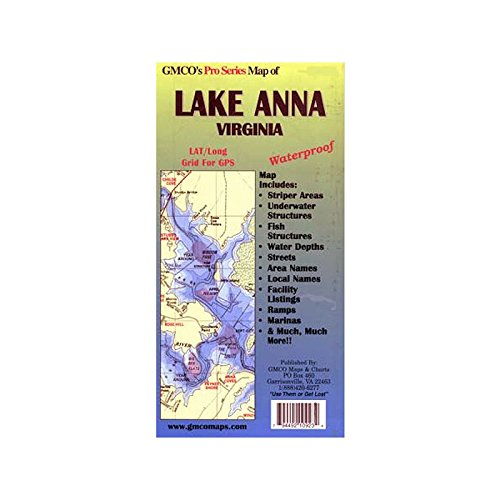 GMCO 10900PS Lake Anna Pro Series Map, GPS/Folded