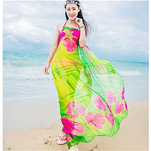 91b148b783a32 Herebuy8 Womens Sexy Beach Chiffon Sarongs Hawaiian Swimsuit Cover ...