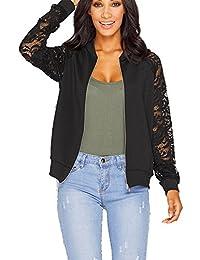Womens Gorgeous Jackets,KIKOY Ladies Long Sleeve Lace Blazer Suit Casual Coat Khaki