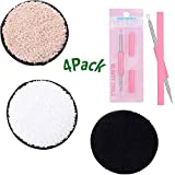 Reusable Makeup Remover Pads, Washable Powder Puff, Acne needle, Chemical-free Facial Cotton Pads- Perfect for Facial Cleansing 4Pcs