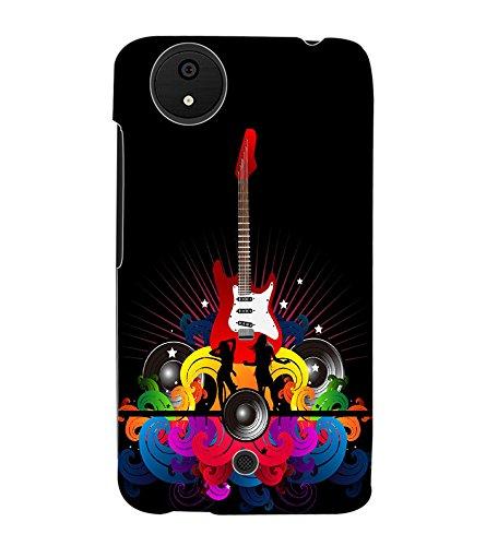 Fuson 3d Printed Guitar Music Wallpaper Designer Back Amazon In
