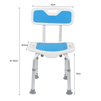 Aluminum Alloy Bbackrest Bath Stool Thickening Antiskid Bathroom Chair For The Elderly Pregnant Women And Disabled Persons Home Improvement Bathroom Safety & Accessories