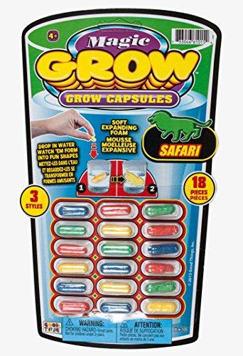 Ja-Ru Magic Grow, 18 Capsules, Safari Animals, 3-pack