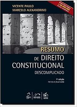 Resumo De Direito Constitucional Descomplicado | Amazon.com.br