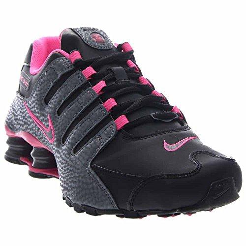 4957443b551 NIKE Womens Shox NZ Running Shoes Black Dark Grey Pink Blast ...