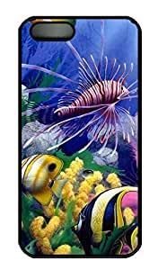 Submarine World 3 Customized Popular DIY Hard Back Case Cover For iPhone 5 5S Soft Black