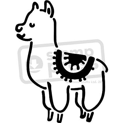 amazon com large a2 cute llama wall stencil template ws00027061