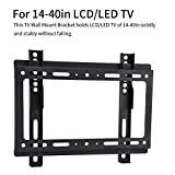 fosa TV Wall Mount for 14-40'' TVs 55lbs, VESA 7575, 100100, 200100, 200200 mm with Tilt, Solid Holding Wall LCD/LED TV Mount for Home, Business Use