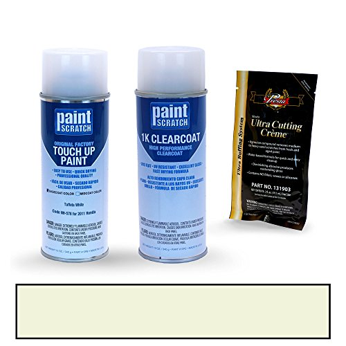 (PAINTSCRATCH Taffeta White NH-578 for 2011 Honda Accord - Touch Up Paint Spray Can Kit - Original Factory OEM Automotive Paint - Color Match)