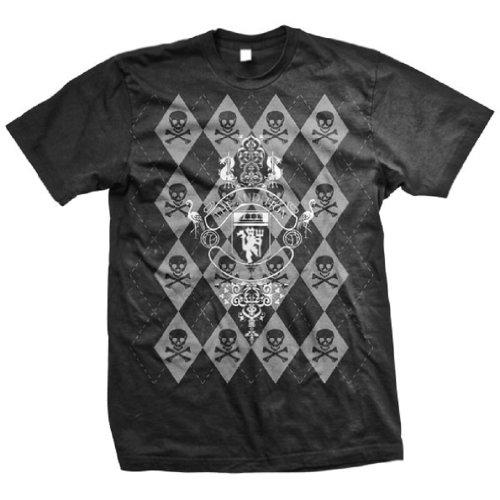 - THE AUDITION - Argyle Skull - Black T-shirt - size YouthLarge