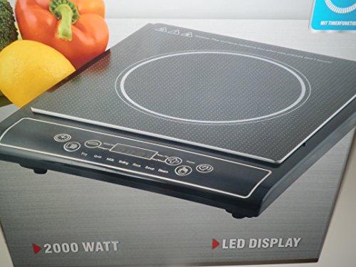 Induktion Kochplatte Herdplatte Induktionskochplatte 2000 Watt Led Display Timerfunktion