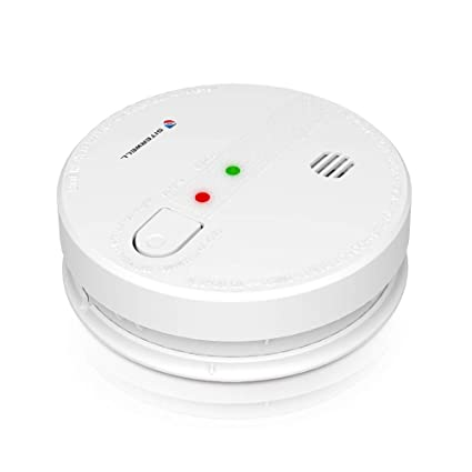 SITERWELL Hardwired Smoke Alarm 120V AC Wire-in Photoelectric Smoke Detectors and Fire Alarm with 9V Battery Backup (GS518) - - Amazon.com