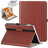 Ztotop iPad Mini 5 Swivel Case - [360 Rotating] Genuine Leather Folio Stand Case Cover with Multi-Angle Viewing - Pocket - Auto Wake Sleep for iPad Mini 5th Gen 7.9-inch 2019 - Brown