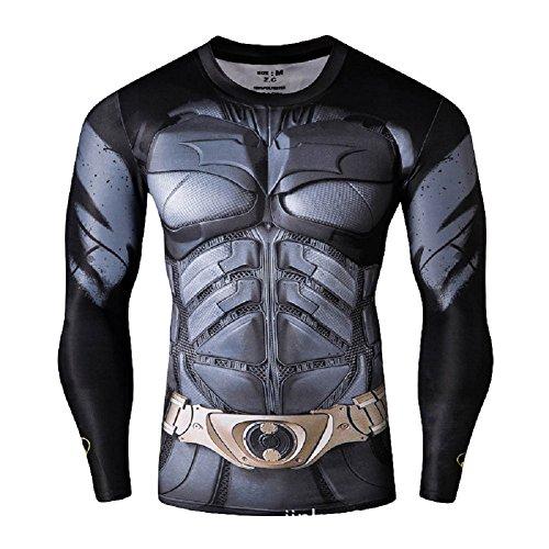 Interior New Gimnasio Compresión Ideal O Born2ridetm Superhéroe Batman De Ciclismo Manga Diseño Corta Térmica Camiseta Para 4XR6XU