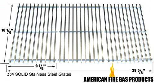 Stainless Steel Cooking Grid for BHG H13-101-099-01, GBC1362W Backyard Classic BY12-084-029-98 and Uniflame GBC1059WB, GBC1059WB-C, GBC1143W-CGas Grill Models, Set of 3 by Grill Parts Zone