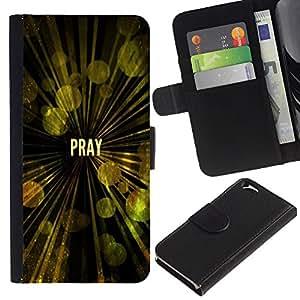 EuroCase - Apple Iphone 6 4.7 - PRAY - Cuero PU Delgado caso cubierta Shell Armor Funda Case Cover