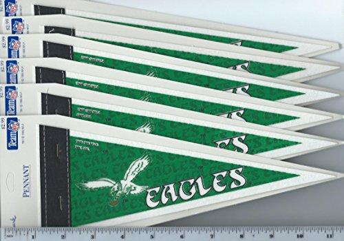 (Lot of 6 Vintage 1995 Hallmark Philadelphia Eagles Mini Pennants Old Logo)