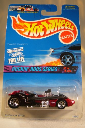 Rockin Wheels Hot Rods - Hot Wheels 1996 164 Rockin Rods Series 1 of 4 Twang Thang Guitar Car Style Die Cast Car Collector 569