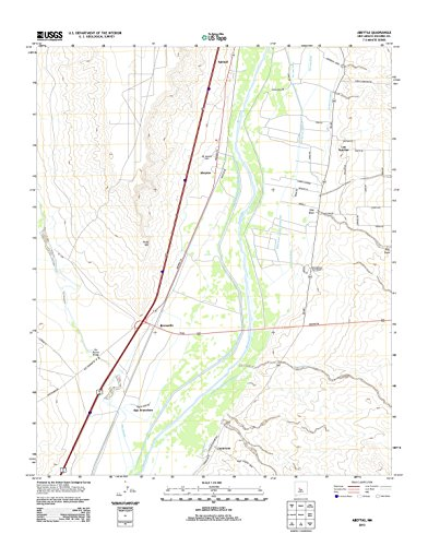 - Topographic Map Poster - ABEYTAS, NM TNM GEOPDF 7.5X7.5 Grid 24000-SCALE TM 2011, 24