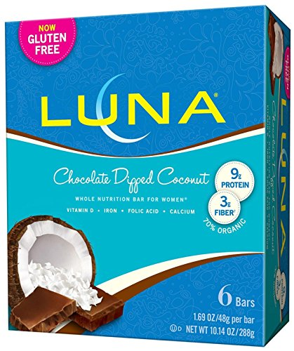 (Luna Gluten Free Bar - Chocolate Dipped Coconut - 1.69 oz - 6 Count)