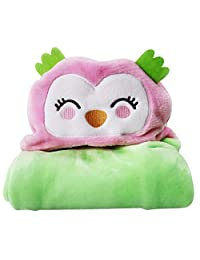 Zhengpin New Baby Warm Soft Coral Fleece Hooded Bath Towel Kids Robe Sleep Blanket