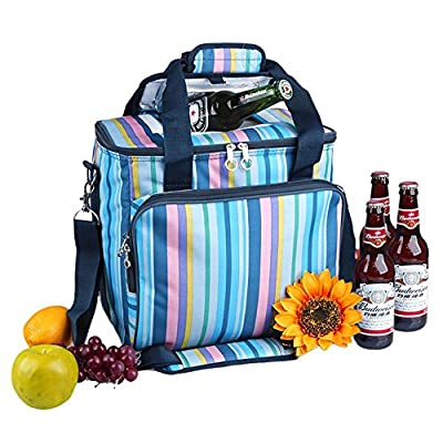 Yodo 18L / 25L Collapsible Soft Cooler Bag - Insulated up to 4 - 6 hours, Rommy for Family Reunion, Party, Beach, Picnics, Sporting Music Events, Everyday Meals to Work