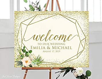image relating to Wedding Sign Printable known as : Enidgunter Welcome Marriage ceremony Indicator Succulent