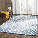 Cheap Safavieh Dip Dye Collection DDY538K Handmade Geometric Moroccan Watercolor Blue and Ivory Wool Area Rug (4′ x 6′)