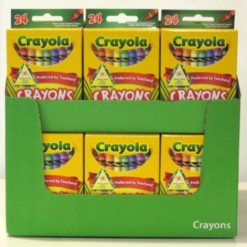 Wholesale: One Case of Crayola Crayons 24 Count (Case Contains 48 Boxes)