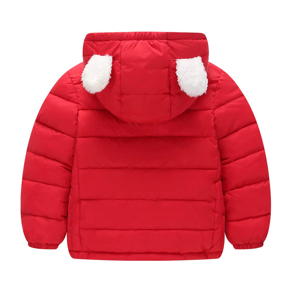 ZHANGVIP Down Jacket for Toddler Kids Baby Girls,2018 Winter Solid Coat Cloak Thick Warm Hoodie Outerwear